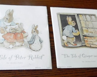 Children's art prints. 1995 Flying colors Ink. Tales of Peter Rabbit, by Beatrix Potter. Tale of Peter Rabbit + Tale of Pickles & Ginger.