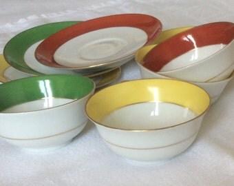 """4 délicate porcelain """" Limoges """" cups"""