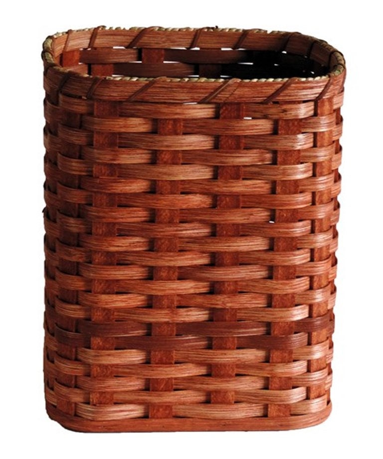 Handmade Small Baskets : Amish handmade small oval waste basket