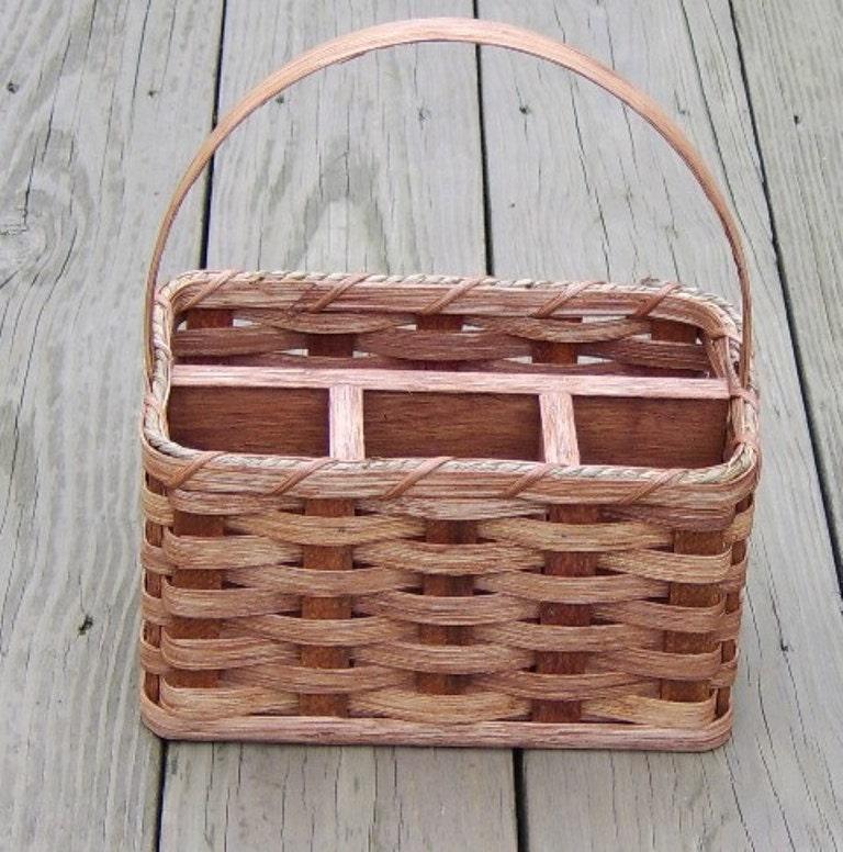 Handmade Small Baskets : Amish handmade small organizer basket w reed by amishbaskets