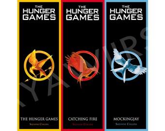 "Digital Download, Printable Bookmarks ""The Hunger Games"""