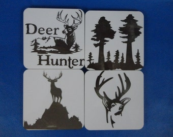 Set of 4 Deer Hunting Coasters