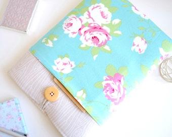 "SALE - MacBook Pro 13"" Sleeve Case - (Rose Floral + Wood)"