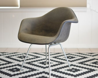 Eames Herman Miller Upholstered Shell Armchair with LAX H-Base