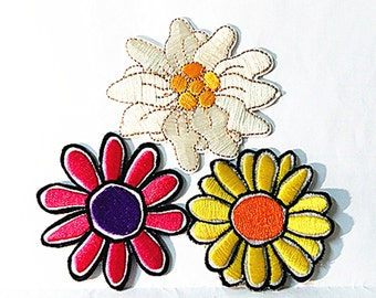 Colorful Plants Sun Flower Full Embroidered Applique Iron on Patch (TN)