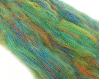 Hand carded, spinning, felting, fiber art batt. 2 oz