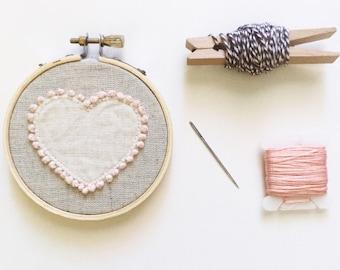 "3"" Heart Embroidery Hoop"