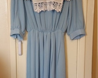 80s DRESS approx UK14/16