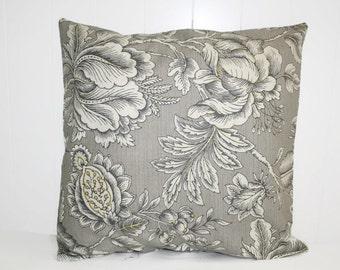 Gray Decorative Throw Pillow, Millcreek Perdido Paramount Graphite Pillow Cover, Throw Pillow