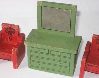 Jaymar Happy Hour Doll House furniture - small size (3 pieces)