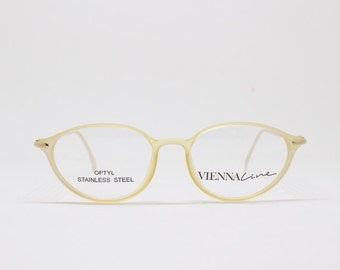 Vienna Line optical glasses, Optyl and Stainless steel frame, Designed in Austria, original 80s vintage eyewear