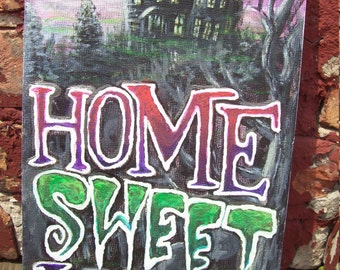 Home Sweet Home Art Board Painting