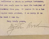 Typed and signed letter from Myrtle Reed, 19th Century Best Selling Author of Lavander and Old Lace and many others
