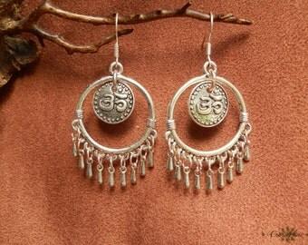 Earring Style ethnic ૐ