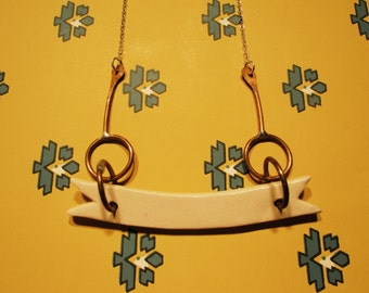 Ceramic Banner Necklace