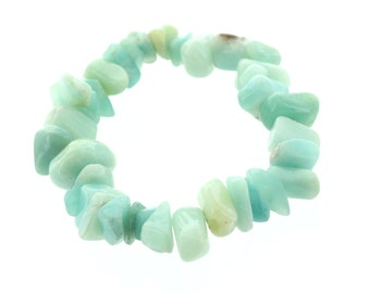 Amazonite Chunky Chip Bracelet
