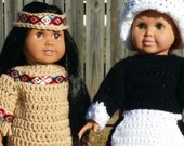 "The First Thanksgiving--Native American and Pilgrim costume for 18"" American Girl typ dolls"