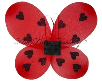 6 LADYBUG Wings . Girls .  Set of 6 Party Pak  . LARGE 20in x 18in