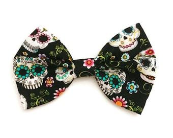 Sugar Skull Bow • Dia De Los Muertos •Halloween Hair Bow • Skull Hair Bow • Costume • Day Of the Dead • Halloween Costume • Hair Accessories