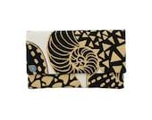 """Mini Clutch - One of a Kind """"Swirly"""" Print  - Made in Hawaii by Jana Lam"""