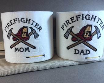 Firefighter Toilet Paper Set, Mom Dad Toilet Paper Gift Set, Firefighter Gift, Joke Gift, Gag Gift