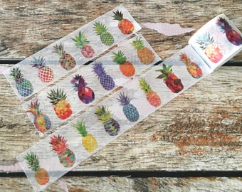 Multi Color Pineapples Washi Tape 30mm