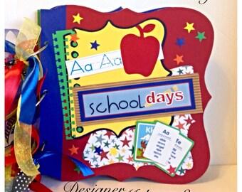 """Premade 9"""" x 9"""" ( can use Instagram or Fuji Instax too) Mini Album - School Days - 4th edition in School Memories Line - Premade Mini Album"""