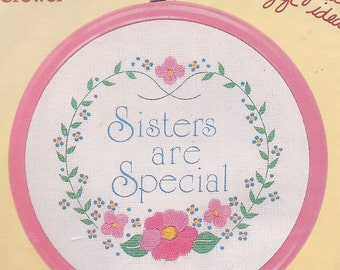 Sisters are Special embroidery kit (includes hoop/frame)