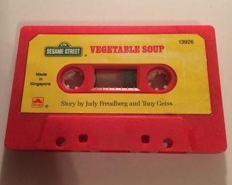 1980's Childs Read-along Cassette. Sesame Street Vegetable Soup Cassette only