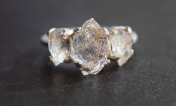 Raw Rough Diamond And Quotes: Raw Diamond Engagement Ring Rough Diamond Ring Uncut Diamond