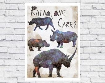 Rhino Print Limited edition