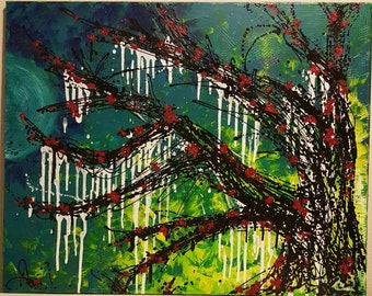 Acrylic Painting, Abstract Painting, Abstract Art, Tree Painting, Texture Painting, Abstract Tree, Acrylic Tree Painting, Large Canvas, Tree