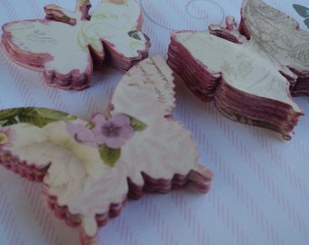 50 Vintage Style die-cut butterflies for weddings, birthday, parties, cards, invitations, school projects Ready to use