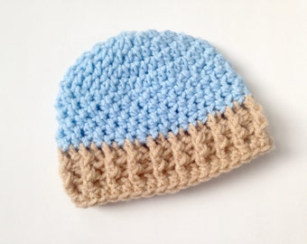 Crochet Infant Hat, textured beanie hat, 0-3 months, 3-6 months, 6-12 months, winter hat, holiday gift, baby hat