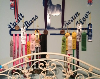 Personalized medal holder with events