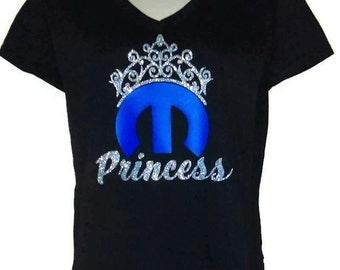 Mopar Princess Womens Vneck T-shirt