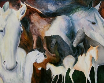Horse Giclee print on watercolor paper