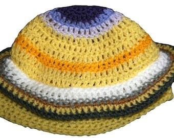 Hand Crocheted Saturn Hat