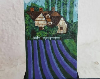 Lavender Hill Homestead. Free easel and shipping with purchase.