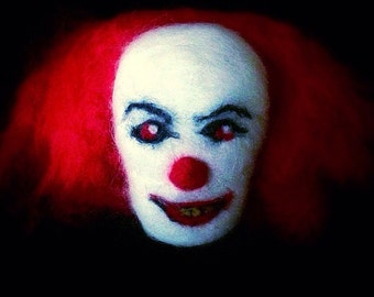 Needle Felt Pennywise the clown. IT