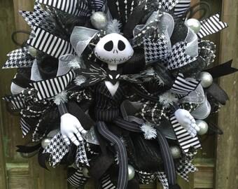 Nightmare Before Christmas Wreath Jack Skellington Wreath