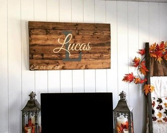 "Large Last Name Sign - 23""x35"""