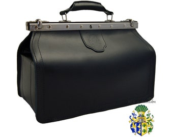 Doctors bag VON BINGEN black leather - Made in Germany