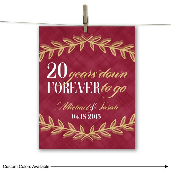 Twentieth Wedding Anniversary Gift: 20th Anniversary Gift For Husband Or For Wife By