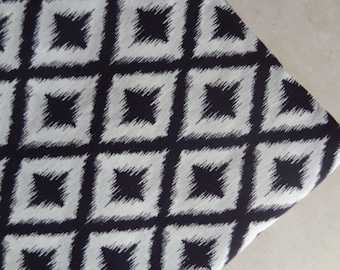 Ikat fabric Black and white ikat print soft cotton fabric by yard clothing fabric dress tunic sewing fabric indian fabric ikat pillow