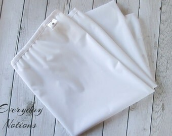 White Diaper Pail Liner -  13 gallon - Reusable Garbage Pail Liner - Laundry Bag