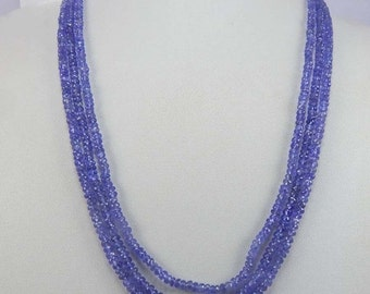 on sale Shop Sale Faceted Tanzanite Rondelles Beads, Luxe AAA, 165.20 cts 3 mm,16''  Periwinkle Blue, december birthstone brides bridal exot