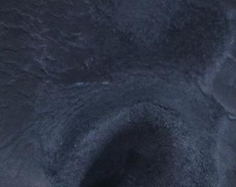"Black Grunge Oil Tanned Cowhide 8"" x 10"" Pre-cut 6-7 ounces TA-34585 (Sec. 4,Shelf 4,C)"