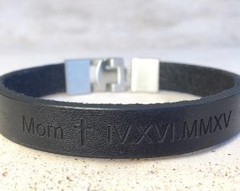 FREE SHIPPING-Men Bracelet,Custom Bracelets,Men Leather Bracelet,Men Personalized Bracelet,Custom Leather Bracelet,Engraved Bracelet