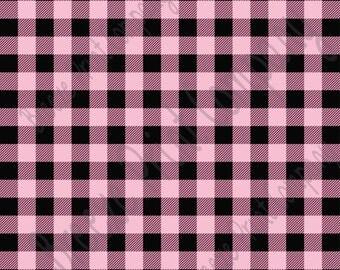 Light pink and black buffalo plaid craft  vinyl sheet - HTV or Adhesive Vinyl -  lumberjack plaid buffalo check HTV1810